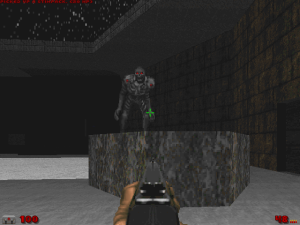 It may just be a sprite replacement, and a sprite that I've seen in other WADs, but, damn, does it look metal :) \m/
