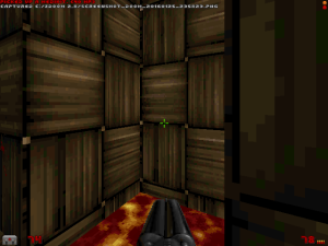 """This is probably my favourite new texture. Although I also noticed some brick wall textures from """"Duke Nukem 3D"""" (?) too :)"""