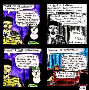"[CLICK FOR LARGER IMAGE] ""Damania Resurrected - Master Debaters"" By C. A. Brown"