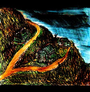 """The Houses On The Hill (A Dream)"" By C. A. Brown"