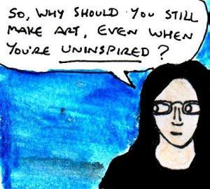 2016 Artwork Make Art When You're Uninspired article sketch