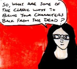 2016 Artwork Resurrecting characters article sketch