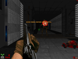 """Yes, this is actually more dramatic than it would be in most """"Doom II"""" WADs"""