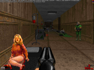"Yes, unlike in ""Doom II"", you actually get to see some of the people that the space marines have saved."