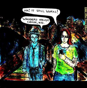 """""""Fan Art - The Blackwell Deception - Rosa's New Phone"""" By C. A. Brown (After Dave Gilbert)"""