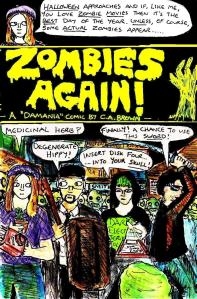 "[CLICK FOR LARGER IMAGE] ""Zombies Again! - Cover"" By C. A. Brown"