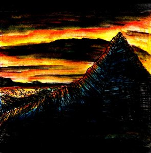 """Pyramid Rock"" By C. A. Brown"
