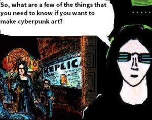 2016 Artwork basic tips for cyberpunk art article sketch