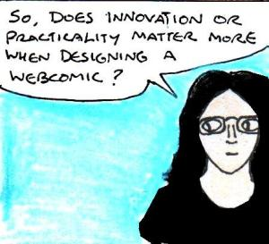 2016 Artwork Innovative vs practical webcomic design