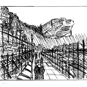 """The Sandown Wastelands (Line Art)"" By C. A. Brown"