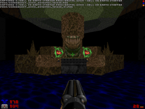 "Although this area looks cooler in the original game, I'm still amazed that someone has been able to re-create it in ""Doom II"" :)"