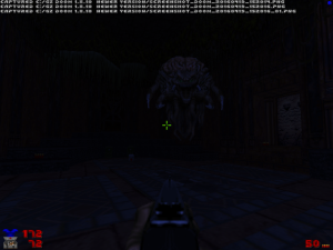 "You probably can't see it in this screenshot, but there are even vaguely ""Duke Nukem 3D""-style 'octobrain' monsters :)"
