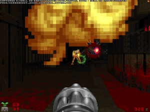 "Because a ""Doom II"" level wouldn't REALLY be a ""Doom II"" level without these distinctive flames..."