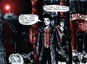"""Fan Art - Blade Runner - Deckard Dreams Of Electric Sheep"" By C. A. Brown"