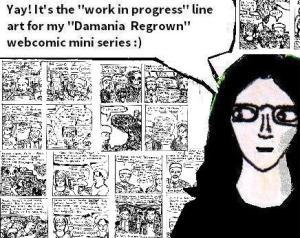 2016 Artwork Damania Regrown lineart article sketch