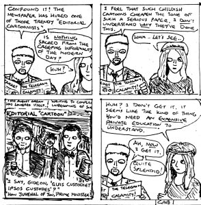 """Damania Regrown - Political Cartoons (Line Art)"" By C. A. Brown"