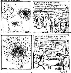 """""""Damania Revived - Bonfire Night (Line Art)"""" By C. A. Brown"""