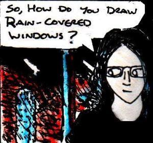 2016 Artwork Rain Covered Windows drawing article