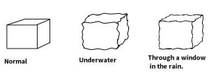 [CLICK FOR LARGER IMAGE] As you can see, the lines need to be slightly less wavy than those used for drawing underwater objects.