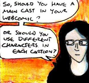 2016 Artwork Webcomics recurring characters article sketch
