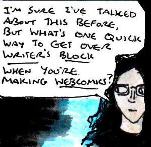 2016 Artwork Webcomics writer's block article sketch