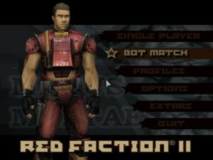 2016 Red Faction II Main menu with bot match