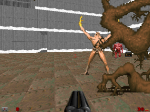 """Yay! Even in 1994, modders knew that a """"Doom II"""" WAD should contain at least one of THESE."""