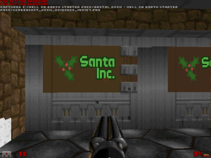 SANTA Inc.? I think that someone's made a spelling mistake, given the number of demonic creatures I've run into so far in this level...