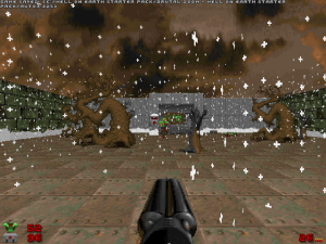 Like this animated falling snow at the beginning of level three.