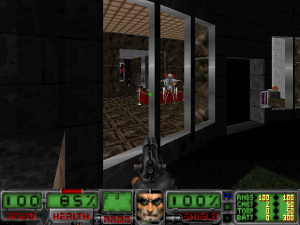 Does anyone else remember the days when FPS games had a large status bar at the bottom of the screen? Yes, you can remove it (and I did), but it's still wonderfully nostalgic.
