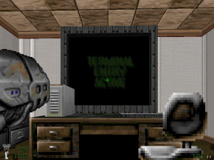 Ooh, a computer in a computer game. How ironic!