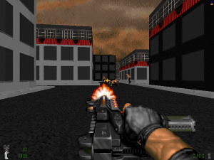 Yes, it looks cool but, if you aren't careful, you can run out of bullets within about five to ten seconds.