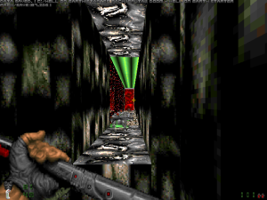 "This bit reminded me of ""Duke Nukem 3D"" too :)"