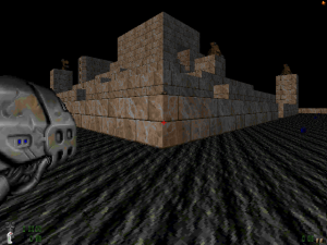 """The creatures standing on top of the castle may look a bit like the Mancubi from """"Doom II"""", but they're more like a souped-up version of the Hell Knights. Seriously, these creatures can kill you within about three seconds if you don't use the right tactics"""