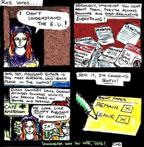 "[CLICK FOR LARGER IMAGE] ""Damania Referendum - Roz Votes"" By C. A. Brown"