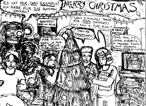 """Merry Christmas 2016 (Line Art)"" By C. A. Brown"