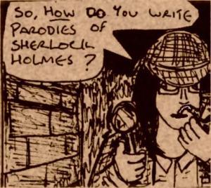 2016 Artwork Sherlock Holmes parody article sketch