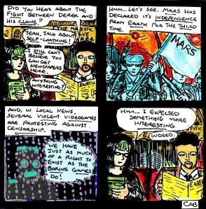 """Damania Retrofuturistic - Jaded"" By C. A. Brown"