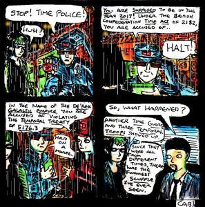 """Damania Retrofuturistic - Time Police"" By C. A. Brown"