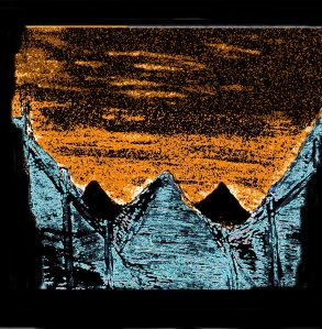 """Dark Pyramids"" By C. A. Brown"