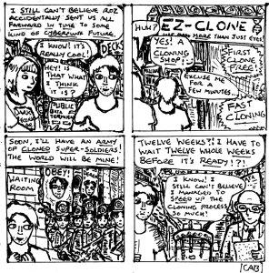 """Damania Retrofuturistic - Double Derek (Line Art)"" By C. A. Brown"