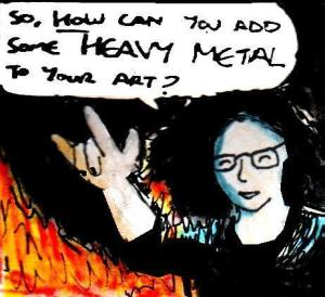 2017 Artwork Heavy Metal Art article sketch