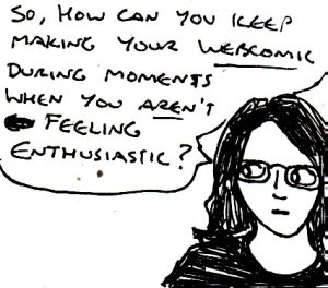 2017 Artwork Webcomic unenthusiasm article sketch