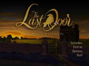The last door - Title screen