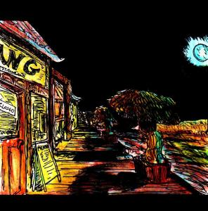 """Blue Moon Street"" By C. A. Brown"