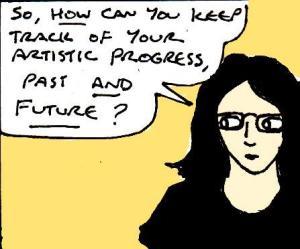 2017 Artwork Artistic Progress article sketch