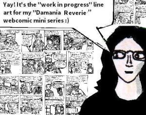 2017 Artwork Damania Reverie lineart article sketch