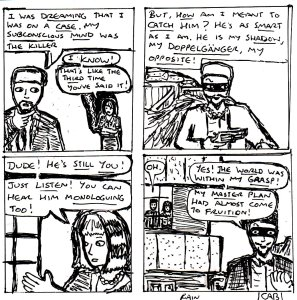 """Damania Reverie - Monologue (Line Art)"" By C. A. Brown"