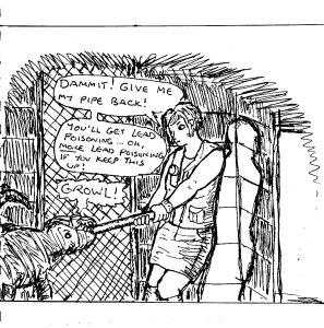 """""""Fan Art - Silent Hill 3 - Lead Pipe [Line Art]"""" By C. A. Brown"""