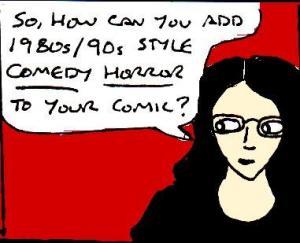 2017 Artwork Retro Comedy horror article sketch